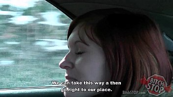 Bitch STOP - Red haired teen hitchhiker Monca fucked thumbnail
