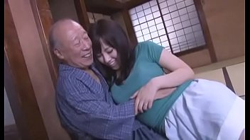 Sexy Azusa Nagasawa has sex with two lucky old men porn image