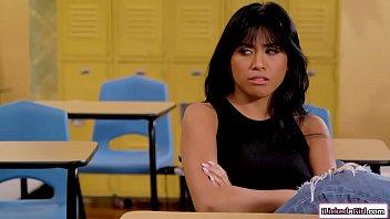 Asian Student Licks Her Busty Teacher