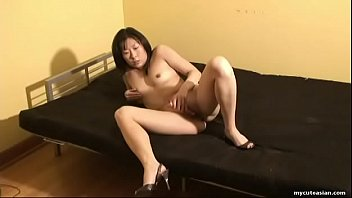 Asian Wife Wears Only Heels While Toying Her Trimmed Twat thumbnail