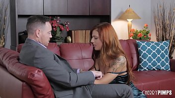 Tattooed Redhead Scarlett Mae Loves The Way Her Shaved Pussy Is Fucked