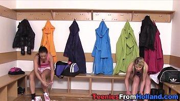 Dutch teen dominas tug