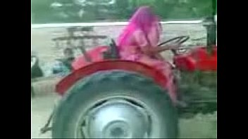 rajasthani women driving tractor