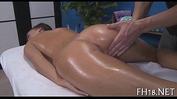 Oiled nude woman Xxx massage clip