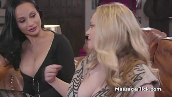 Massage turns to wild milf threesome during book club night thumbnail