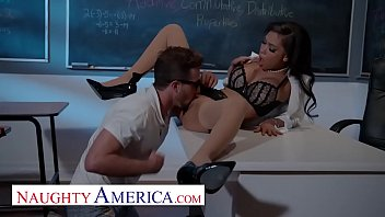 Naughty America - Gia Milana teaches Lucas how to fuck in class