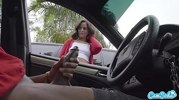 Cassting couch hand jobs - Dick flash cute teen gives me hand job in public parking lot after she sees my big black cock