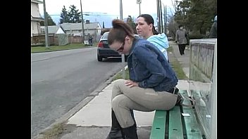 Stop pissing - Ineed2pee - desperation piss wetting alex janessa bus stop embaressment