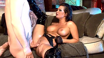 Sexy high heels and thigh high boots - Busty milf fucking in thigh high boots and gloves