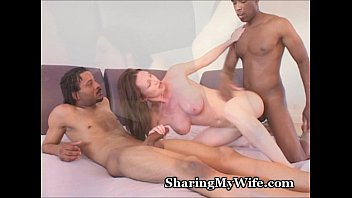 Hot Lady Fucks 2 Black Cocks