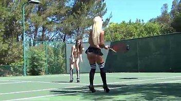 Topless Tennis Fun