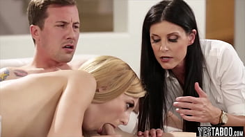 Threesome with the hot MILF teacher