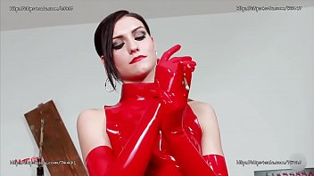 Latex allergy products Sexy italian mistress in red latex