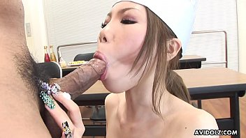 Hard fucking for the skinny Japanese chef with creamed tits