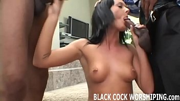 These two big black cocks are going to tear me up