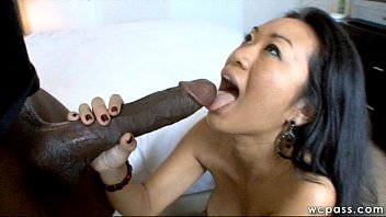 Asian Pussy Swallows Mandingo