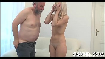 Horny juvenile babe screwed by old guy