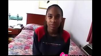 Horny Cute Black Teen Gets Facial Cumshot Video