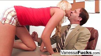 Vanessa Cage fucks the teacher