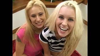 TWO HOT BLONDES FIGHTING OVER POV JOES COCK