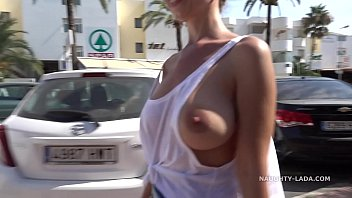 Boobs and pussy flashing in public