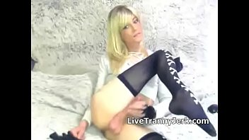 Tranny cute blonde - Cute blond trap jerking