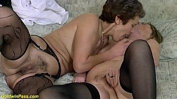 brutal lesbian granny dildo sharing