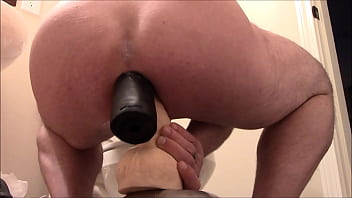 Gay dildo insertions - Rubber fist n big dildo - double penetration