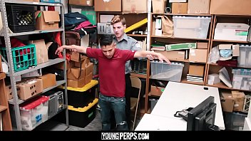 YoungPerps - Latin man stripped and fucked by a mall cop