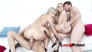 Ria Sunn & Karina Grand Hard Anal & DP foursome with Monster cocks