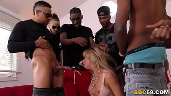 BBC Slut Cherie DeVille Deepthroats Many Big Black Dicks