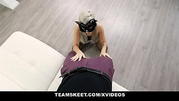 ExxxtraSmall - Tiny Girl In Mask Sucks Huge Dick