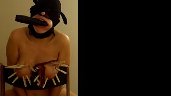 Tit torture lactation - Extreme homemade tit torture and gagging