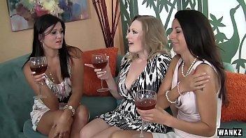 WANKZ- Three MILFs Sharing A Fat Cock