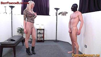 Bdsm gallery vid Blonde femdom amazon dominates in pantyhose