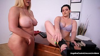 Hot BBW Attorney Angelina Castro StrapOn Bangs Karen Fisher!