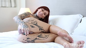 Pierced nipples and clit Yanks tattooed monte cooper masturbates
