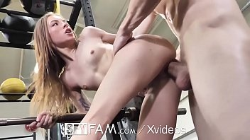 SPYFAM Stepsister fucked at the gym by big dick step brother
