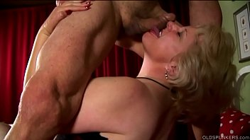 Granny loves spunk - Buxom old blonde spunker is a super hot fuck loves a sticky facial cumshot