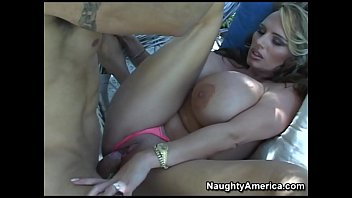 Naughty America - Find Your Fantasy Blonde Lisa Lipps fucking in the chair with her tits
