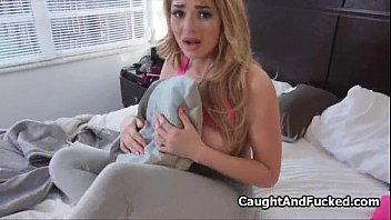 Bigtit blond teen caught and fucked