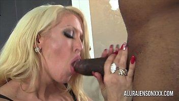 Big tit pornstar Alura Jenson loves big black cock