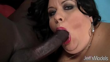 Fat ass with big tits takes black cock