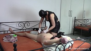 The wife ties and shaves cock her husband