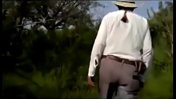 Mi amigo y yo con el ranchero.
