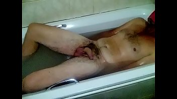 Secretly filmed Husband taking a bath