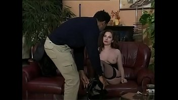 Sexy White Girl In Stockings Seduced By A Black Man