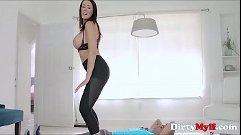Image: Yoga-ing His Way Into Brunette MILF's Pussy- Reagan Foxx