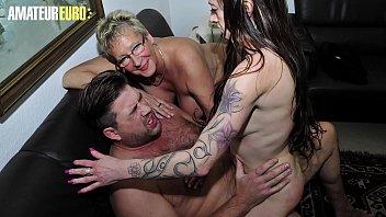 Hot amateur mature porn - Amateur euro - german big tits matures sucks and rides cock in hardcore ffm sex erna adrienne kiss