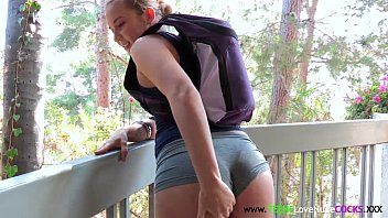 Booty teen facialized by bigcock